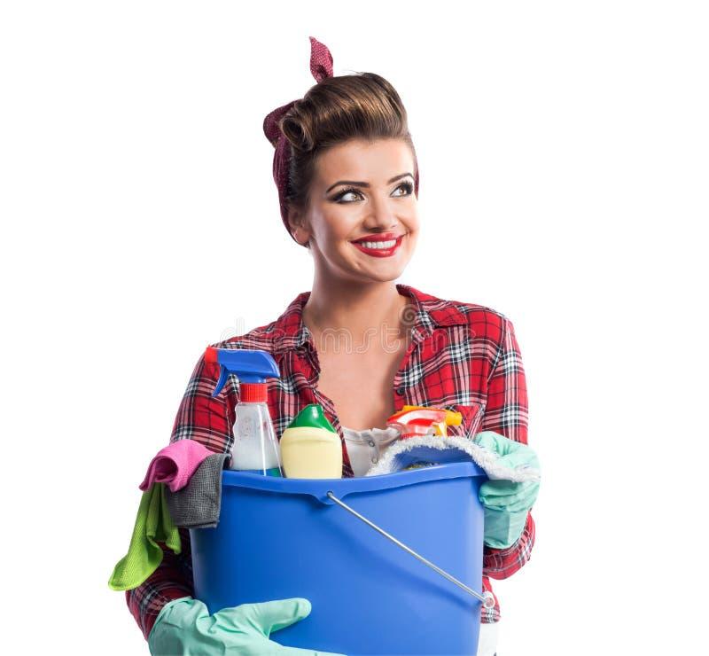 Download Piękny młody cleaner obraz stock. Obraz złożonej z pomysł - 65225731
