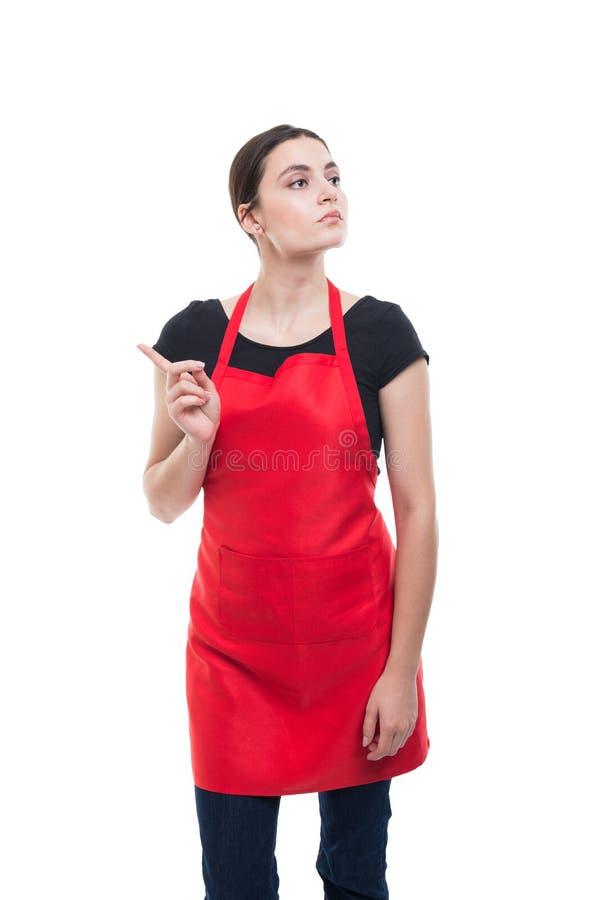 Piękny młody pracownik pokazuje odrzucenie gest obrazy stock
