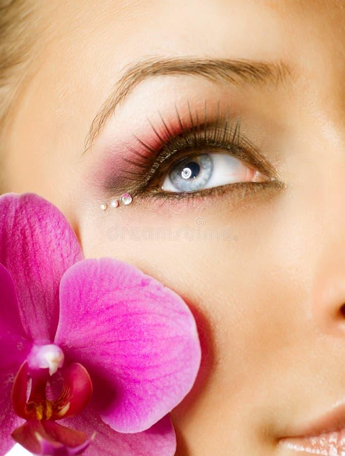 piękny makeup fotografia stock