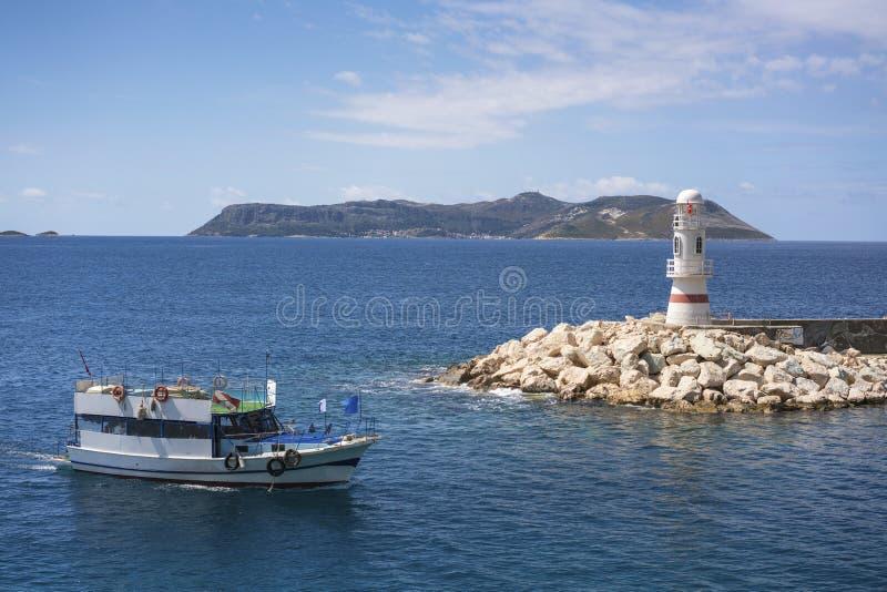 Piękny marina Kasa, Turcja fotografia royalty free