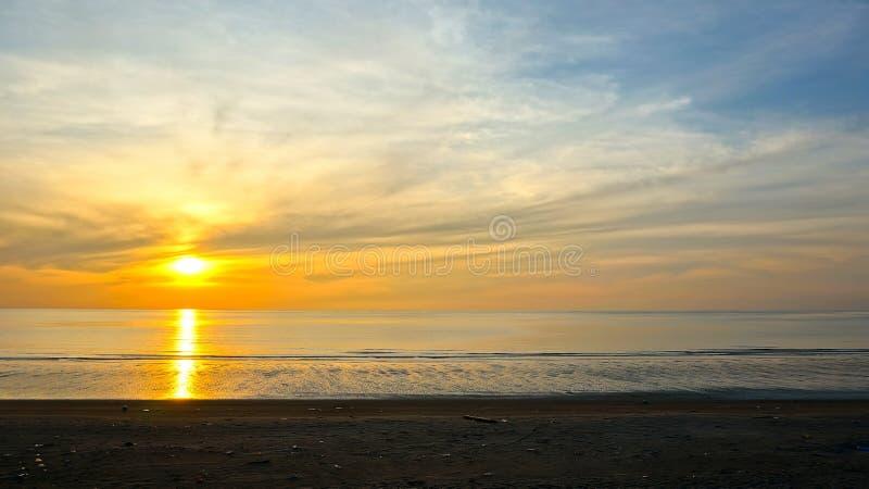 Piękny markotny wschód słońca zdjęcia stock