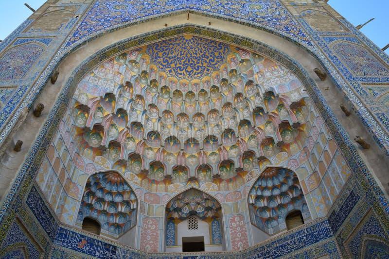 Piękny meczet w Bukhara Uzbekistan centrali Azja zdjęcie stock