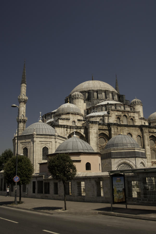 Piękny meczet w Istanbuł obraz royalty free