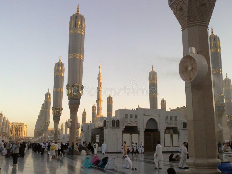 PIĘKNY MEDINA meczet W ARABIA SAUDYJSKA obraz royalty free