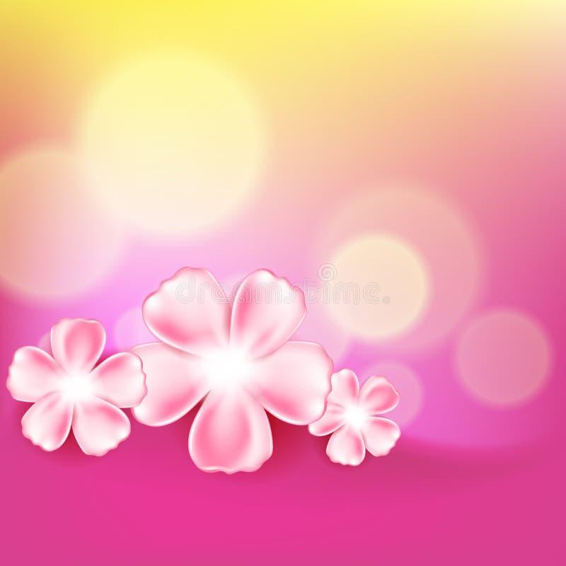 Piękny menchia kwiatu tło ilustracji