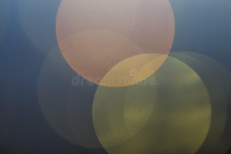 Piękny miękki multicolor bokeh tło Defocused światła klepnięcie obraz stock