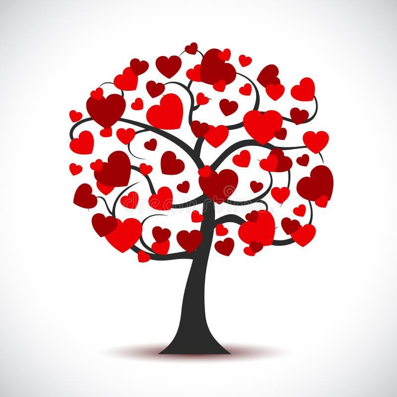 Piękny miłości drzewo - wektor ilustracji