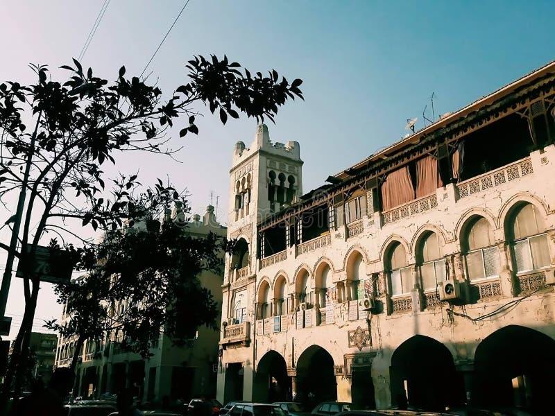 Piękny miasto Kair, Al Korby budynki fotografia stock