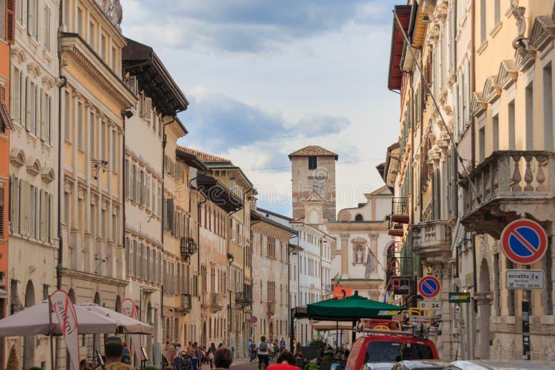 Piękny miasto Trento, Włochy obrazy royalty free