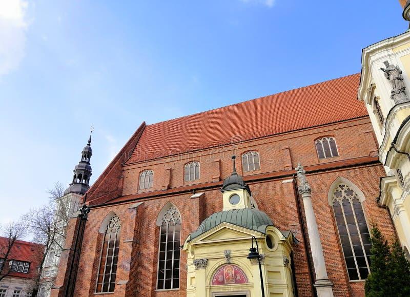 Piękny miasto WrocÃ… 'aw, Silesia, Polska zdjęcie royalty free