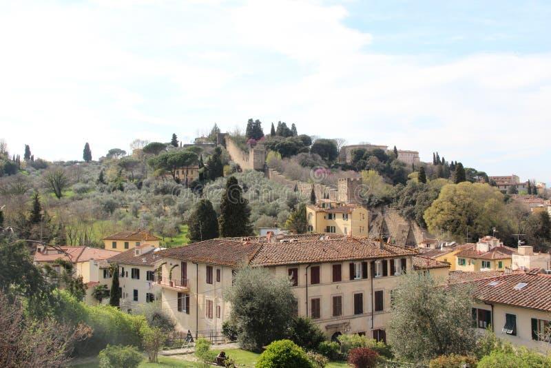 Pi?kny miejsce, Florencja wiosna 2019, sceniczni punkty, krajobraz, natura zdjęcia royalty free