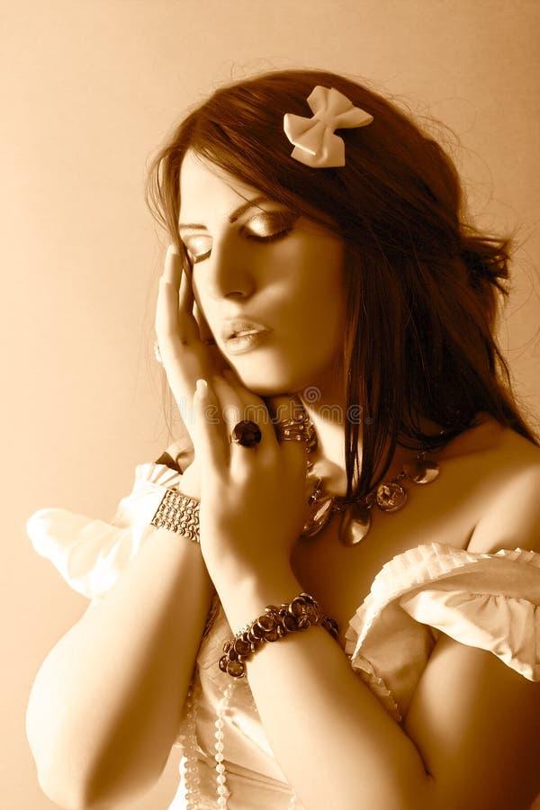 Piękny moda portret zdjęcia royalty free