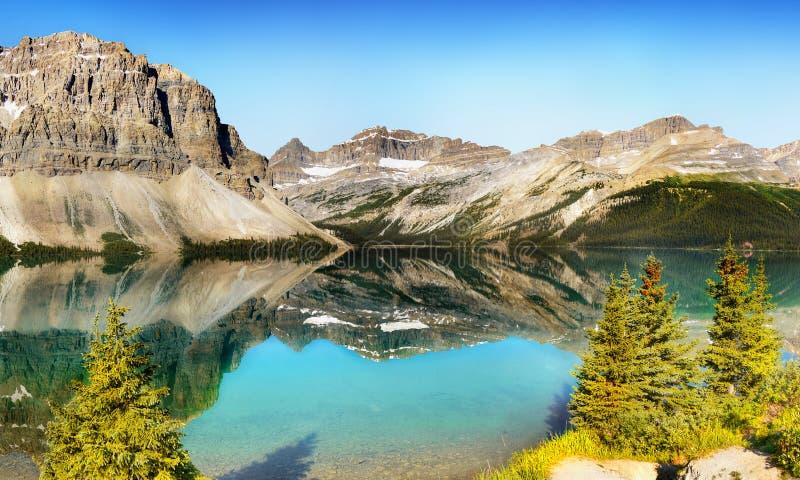 Piękny Morena jezioro, Kanadyjskie Skaliste góry, Banff park narodowy, Alberta, Kanada fotografia royalty free
