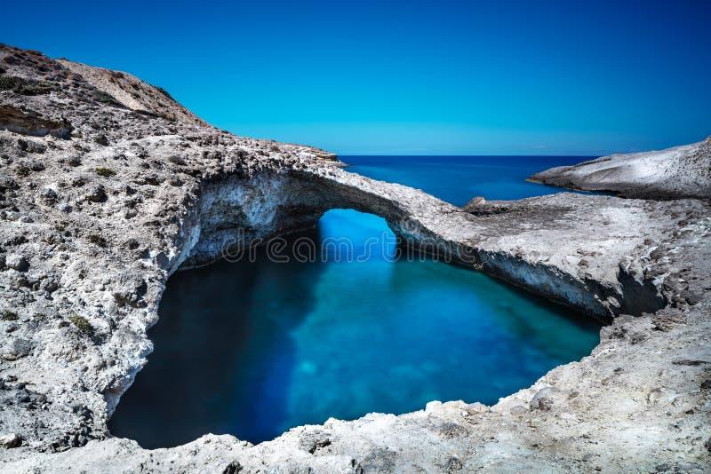 Piękny morze krajobraz, Grecja obraz stock