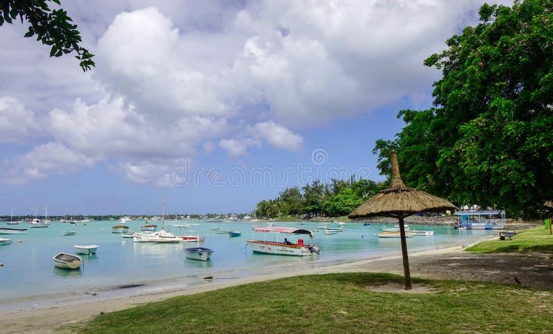 Piękny morze w Uroczystym Baie, Mauritius obrazy stock