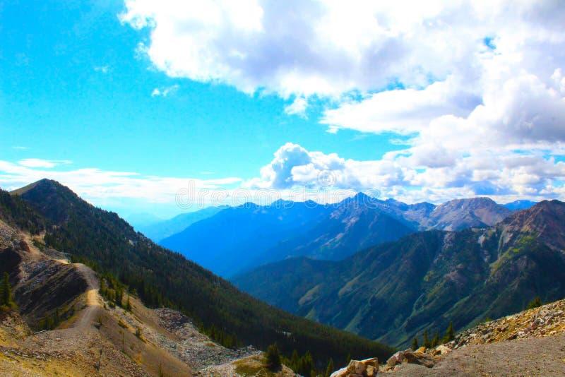 PIĘKNY MOUNTAIN VIEW BC fotografia royalty free