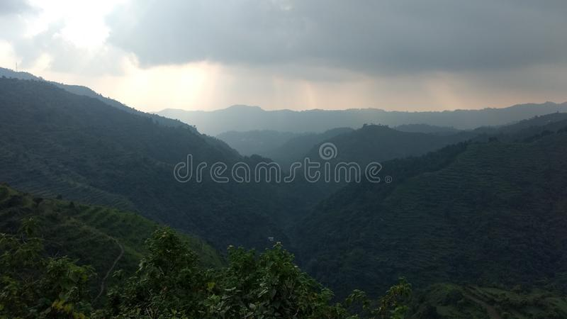 Piękny mountaits widok przy khera rishikesh uttrakhand goan ind obrazy stock