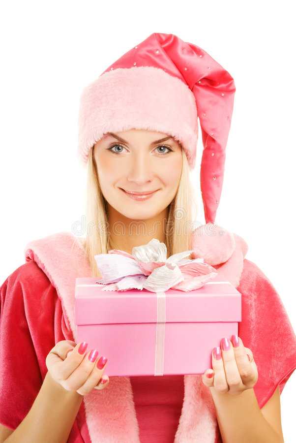 piękny mrs Santa zdjęcie royalty free