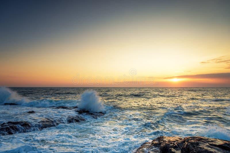 piękny nad dennym wschód słońca zdjęcie stock
