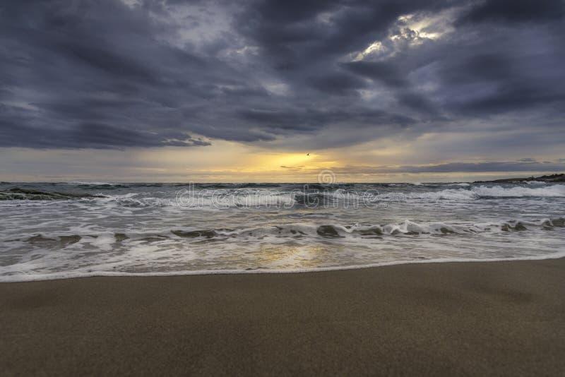 piękny nad dennym wschód słońca zdjęcia stock
