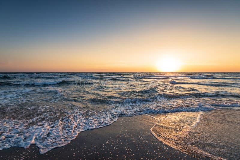 piękny nad dennym wschód słońca obrazy stock