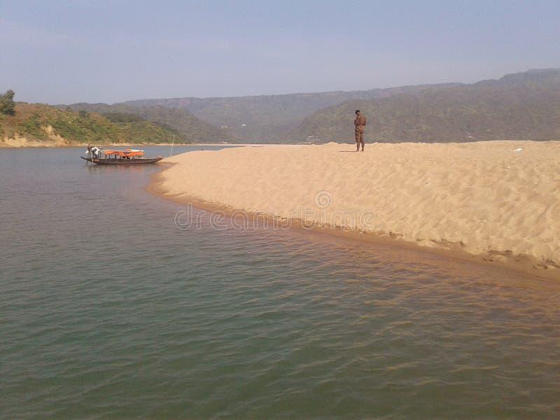 Piękny naturalny piaskowaty miejsce fotografia royalty free