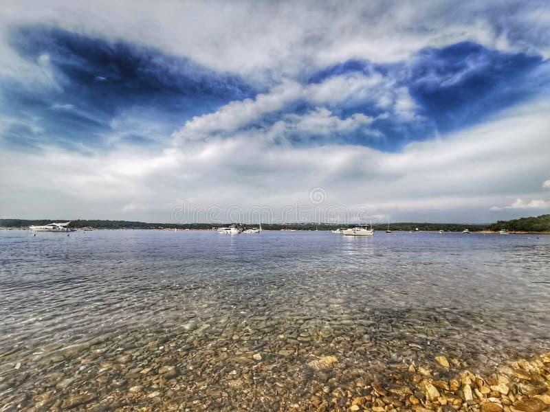 Piękny niebo na morzu obraz royalty free