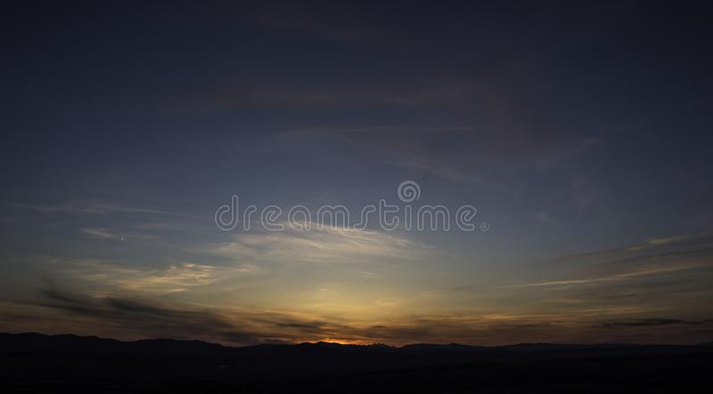 Piękny niebo po zmierzchu obrazy stock