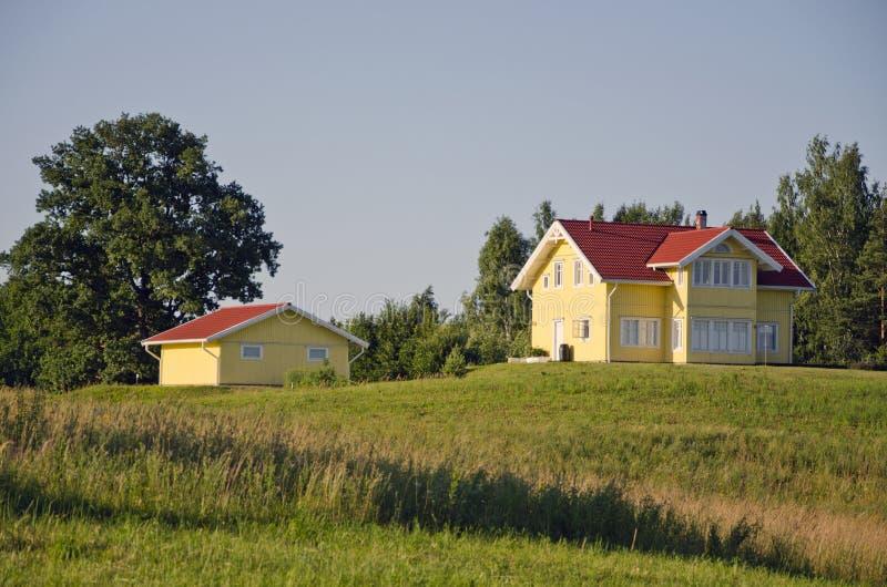 Piękny nowy intymny dom fotografia stock