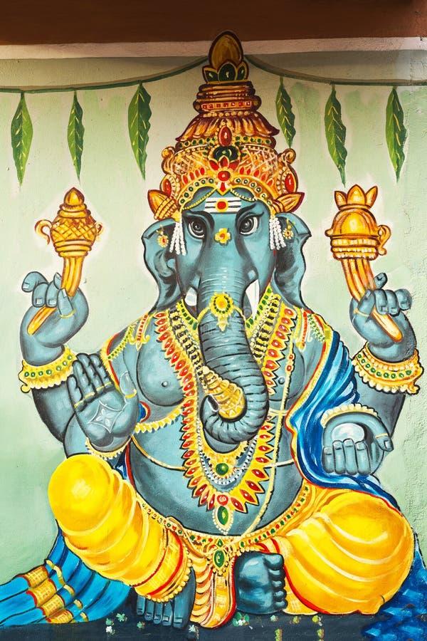 Piękny obraz w ganesh świątyni, Chennai, tamil nadu, południe Ja fotografia stock