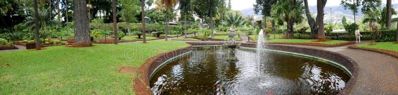 Piękny ogród gubernatora pałac w Funchal na wyspie madera Portugalia fotografia royalty free