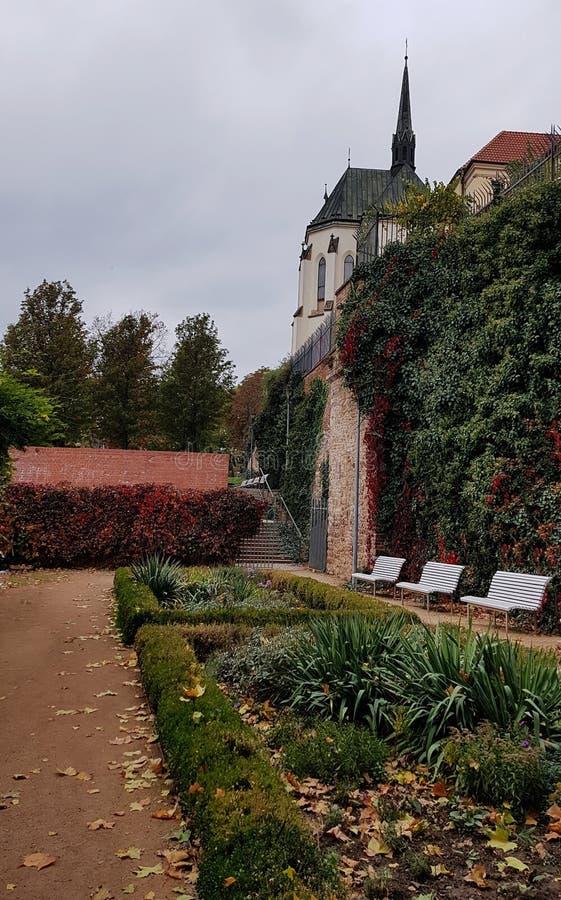 Piękny ogród w centrum Brna obrazy royalty free