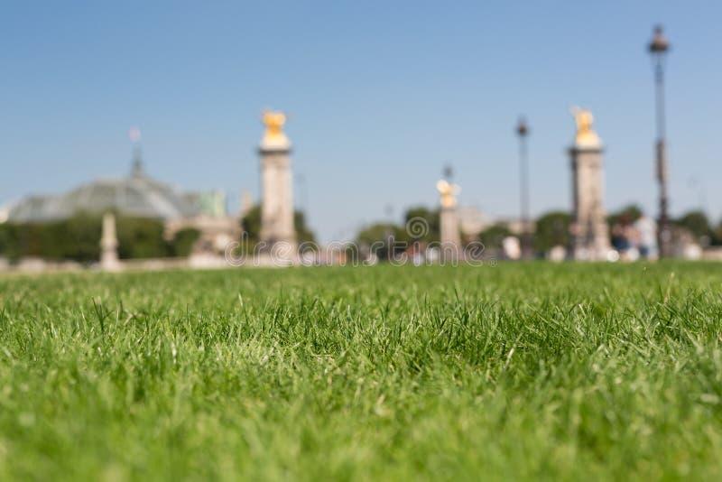Piękny ogród w Paryż obraz royalty free