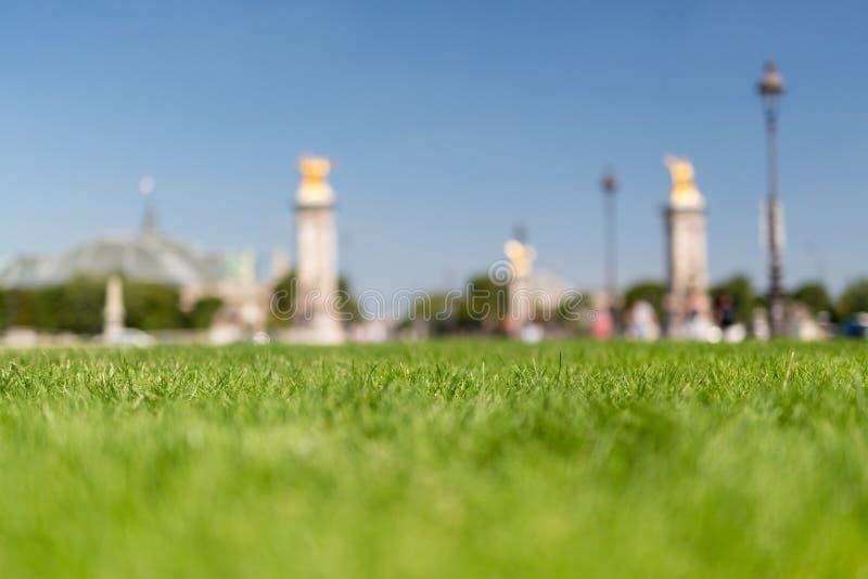 Piękny ogród w Paryż zdjęcie royalty free
