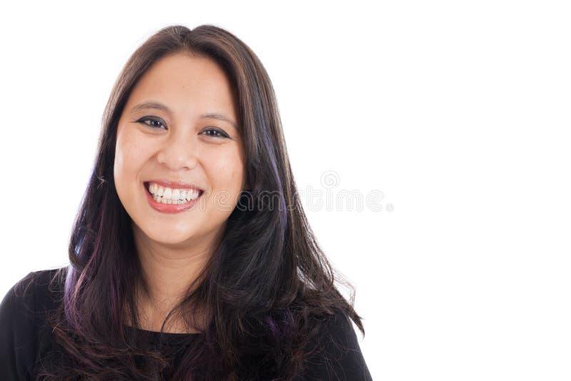 Szczęśliwy Azjatycki kobieta portret zdjęcia stock