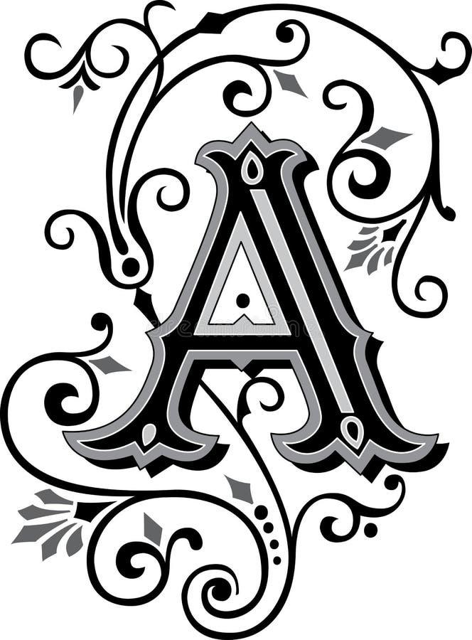 Piękny ornament, Pisze list A royalty ilustracja