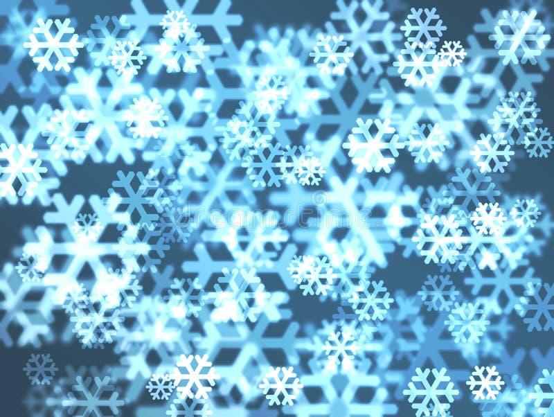 Piękny płatka śniegu obiektywu tło ilustracji