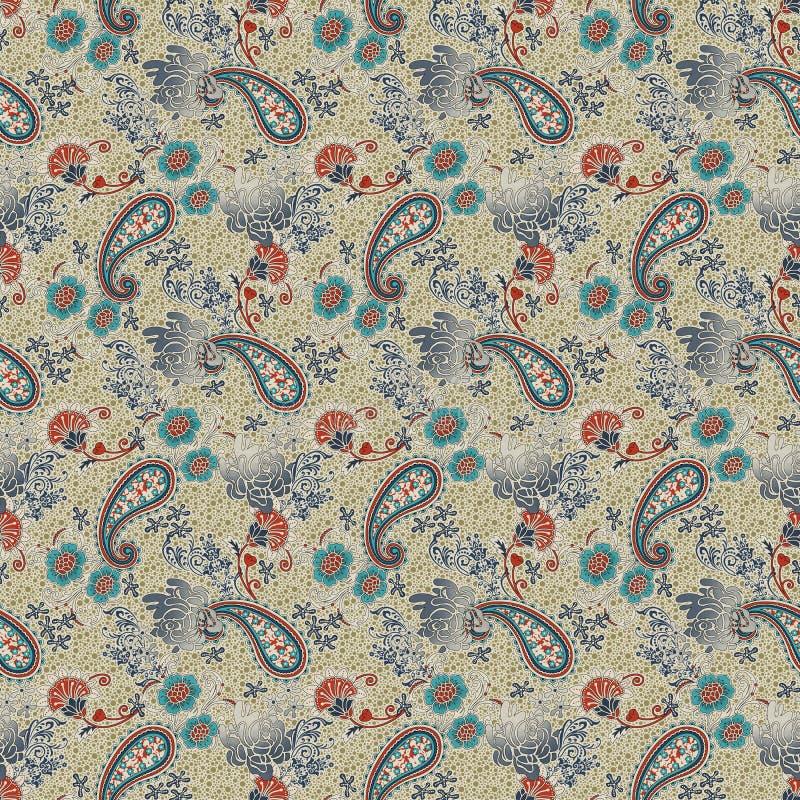 Piękny Paisley wzór w jawańczyka stylu batiku fotografia royalty free