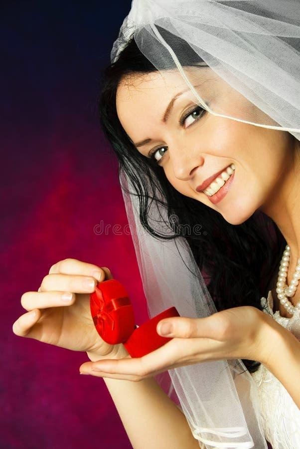 piękny panny młodej pierścionku ślub obraz royalty free
