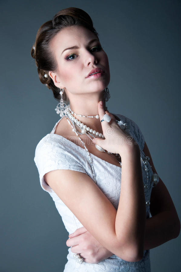 Piękny panny młodej studia portret zdjęcia stock