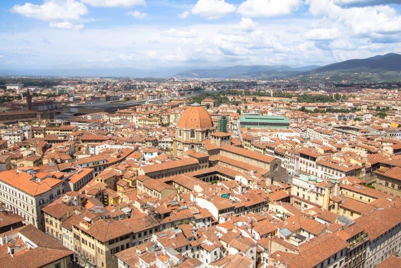 Piękny panorama widok nad Florencja, Włochy obrazy royalty free