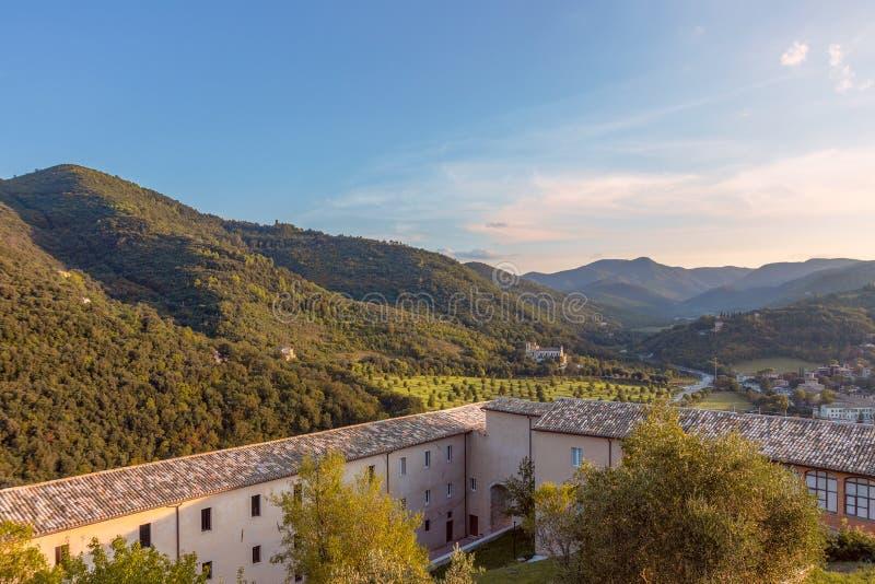 Piękny panoramiczny widok od grodowego losu angeles Roca wzgórza Umb zdjęcia royalty free