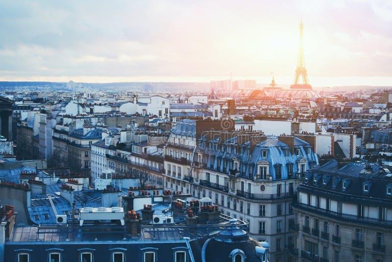 Piękny panoramiczny widok Paryż obraz royalty free