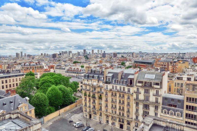Piękny panoramiczny widok Paryż zdjęcia stock
