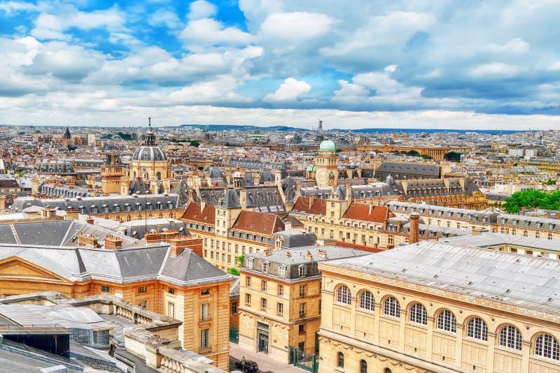 Piękny panoramiczny widok Paryż zdjęcie stock
