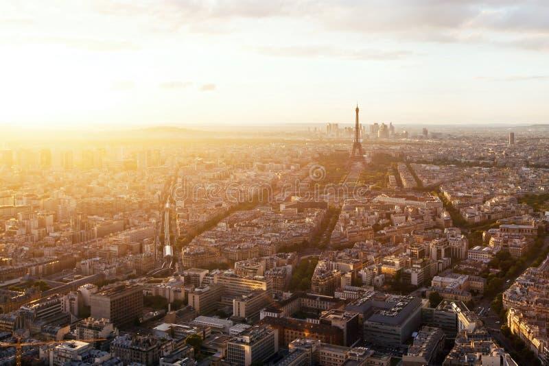 Piękny panoramiczny widok z lotu ptaka Paryż zdjęcia stock