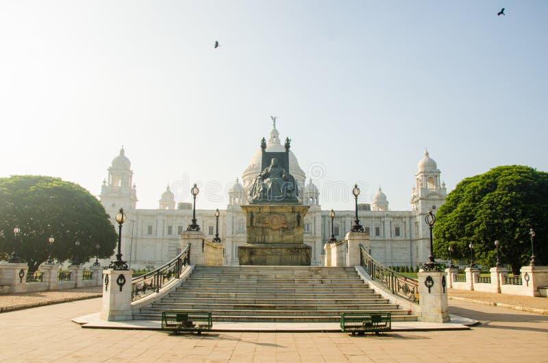 Piękny panoramiczny wizerunek Wiktoria pomnik, Kolkata, Calcutta, Zachodni Bengalia, India Dziejowy zabytek Indiański architekt fotografia royalty free