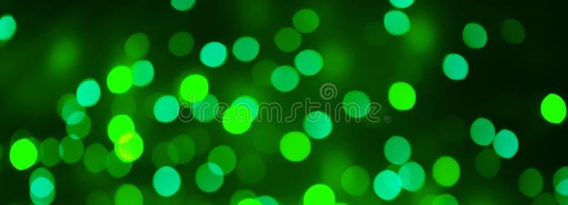 Piękny panoramiczny zielony Bożenarodzeniowy Wakacyjny Bokeh tło zdjęcie stock