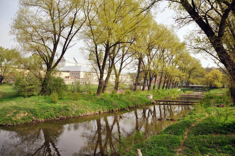 Piękny park w wiośnie obraz stock