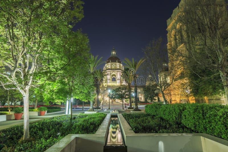 Piękny Pasadena urząd miasta blisko Los Angeles, Kalifornia obrazy royalty free
